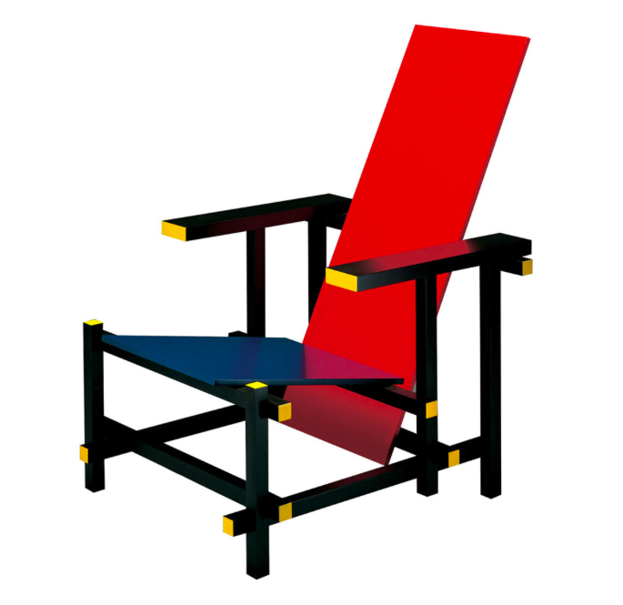 Red-Blue Chair - Gerrit Rietveld - 1918